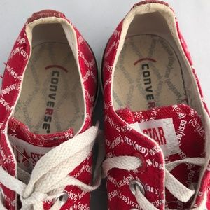 """Converse Shoes - Red Converse Sneakers """"Desi(Red)"""""""
